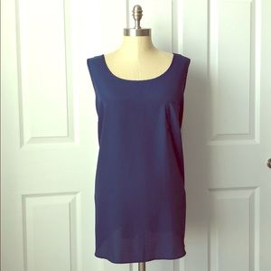 Faded Glory Navy Blue Pocket Tank Size 2x